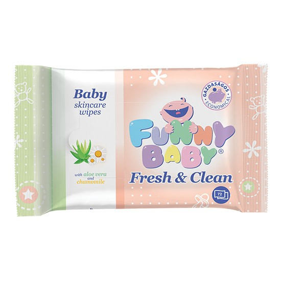 Lingettes funny baby fresh...